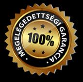 100% elégedettségi garancia