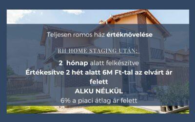 Családi ház értéknövelése home staginggel